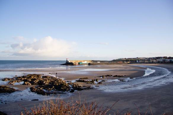 Balbriggan beach and harbour